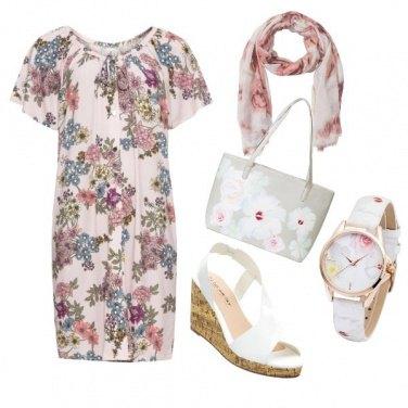 Outfit Rose e fiori di campo