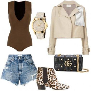 Outfit Il body marrone