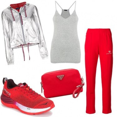 Outfit Rosso sport