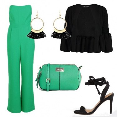 Outfit Jumpsuite in verde