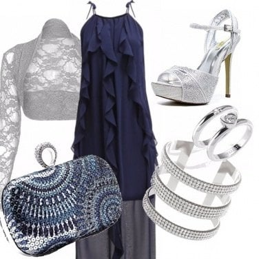 Outfit Blu navy e argento!