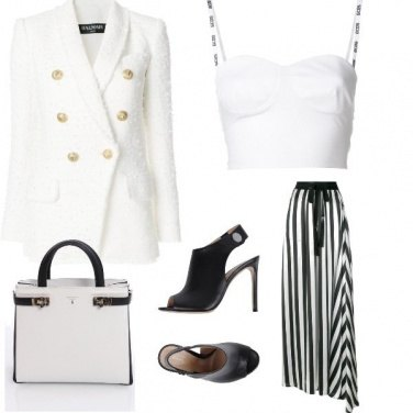 Outfit Black end white