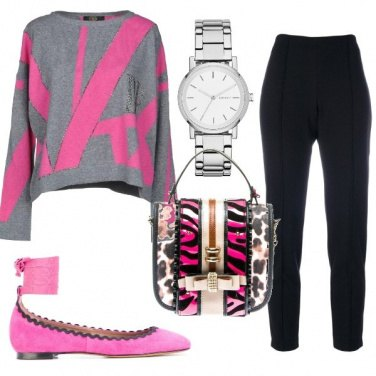 Outfit Pullover colorato