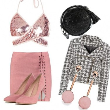 Outfit Anni \'90 in rosa