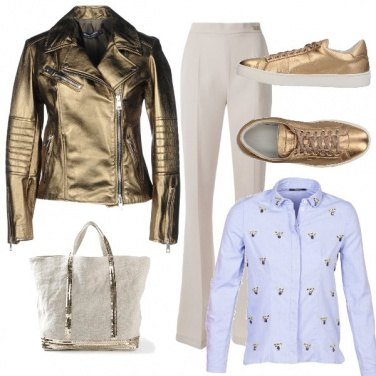 Outfit Gold woman