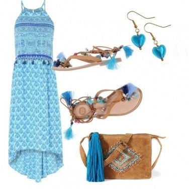 Outfit Frange di azzurro