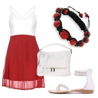 Outfit Bianco rosso