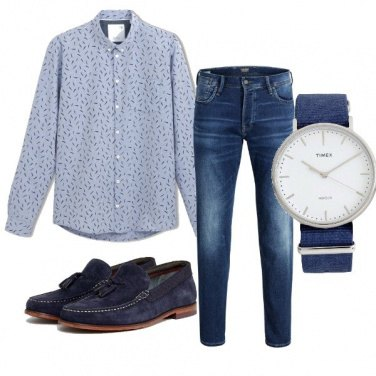 Jeans E Cravatta Outfit Uomo Trendy Per Tutti I Giorni
