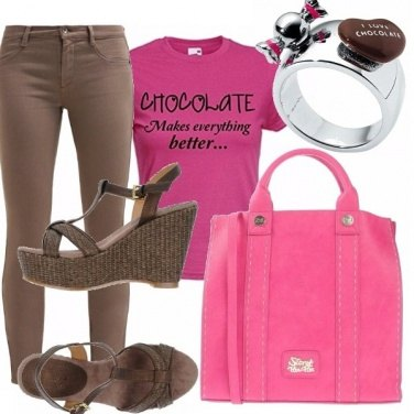 Outfit I love chocolate !