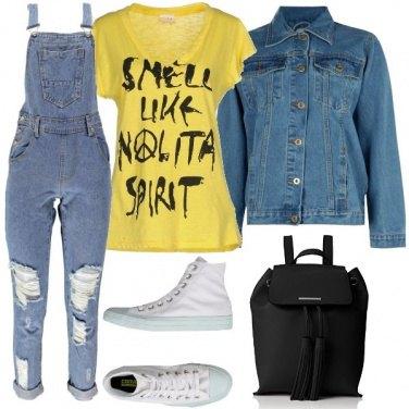Outfit La salopette di jeans
