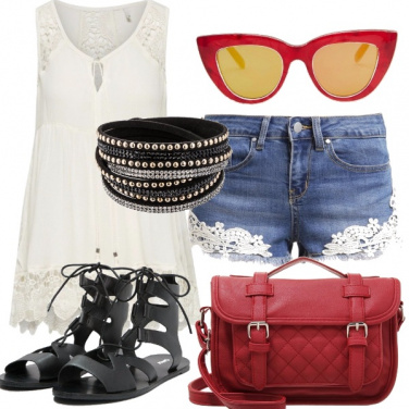 Outfit Filo rosso