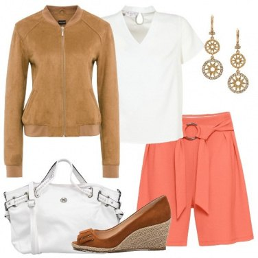 Outfit Il pantaloncino con cintura