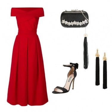 Outfit Signora il rosso