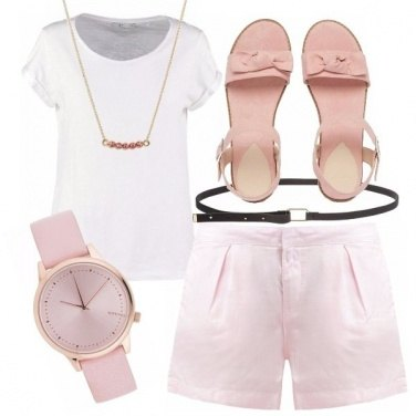 Outfit Minimal in rosa