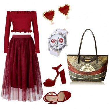Outfit Non solo bordeaux