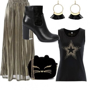 Outfit Gold cat