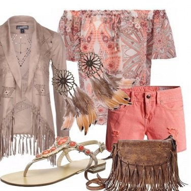 Outfit Frange e piume sioux