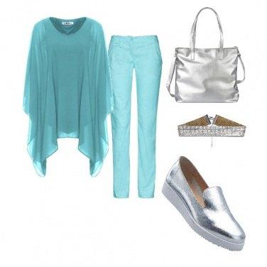 Outfit Argento e celeste