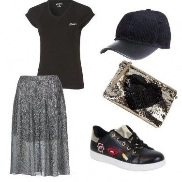 Outfit Sportivo con un tocco glam