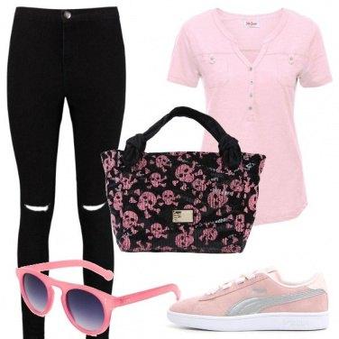 Outfit Teschietti rosa