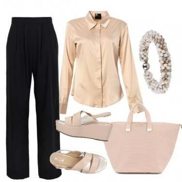 Outfit Camicia beige