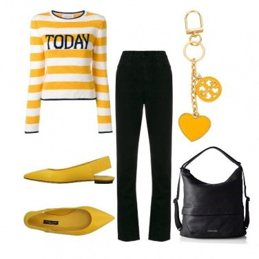 Outfit Black and yellow #02