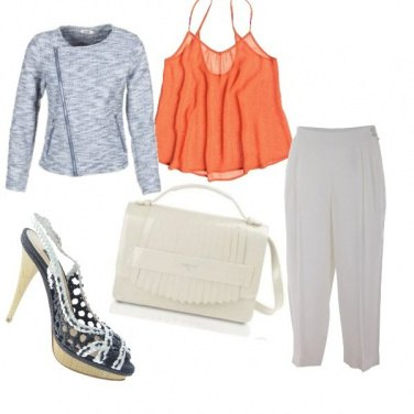 Outfit Top arancio
