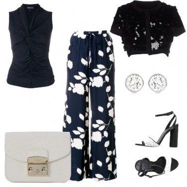 Outfit Panta-palazzo a fiori