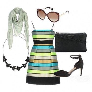 Outfit L'abito a righe