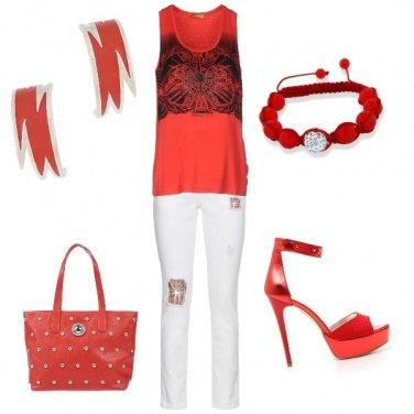 Outfit Una fiammata di Versace!
