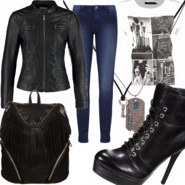 Outfit Lady Biker