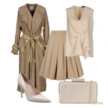 Outfit Meghan Markle in beige