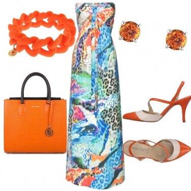 Outfit Avvolgente arancio