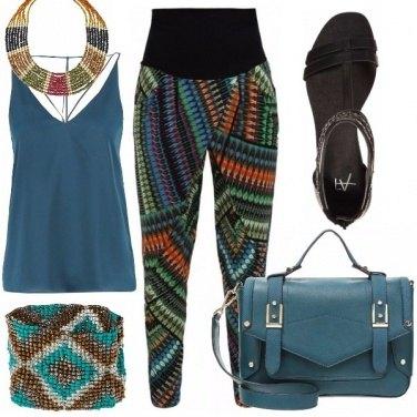 Outfit Blu petrolio