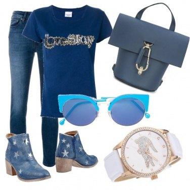 Outfit Coccodrillo e stelle