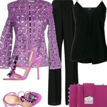 Outfit Delicato lilla