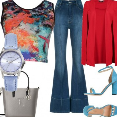 Outfit Astrattismo sul top