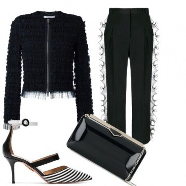 Outfit Black rouche