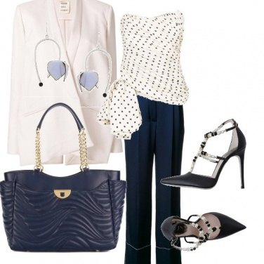 Outfit Pois blu