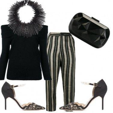 Outfit Black stripe