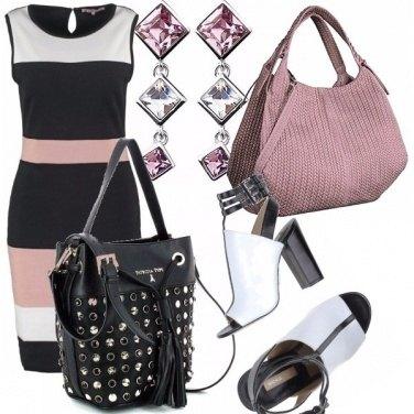 Outfit Rosa, bianco e nero