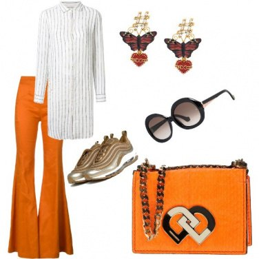 Outfit Tunica e sneakers