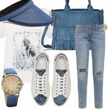 Outfit Light blu jeans lulù