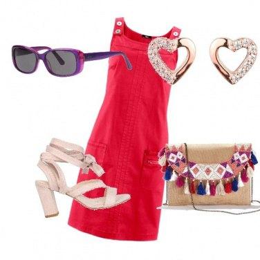 Outfit Passeggiata in rosso