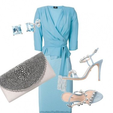 Outfit Silver blue