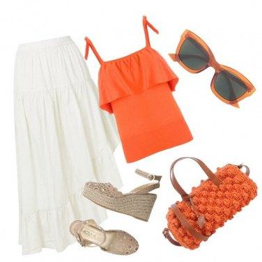 Outfit Con la gonna bianca