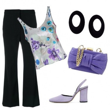 Outfit Il viola protagonista