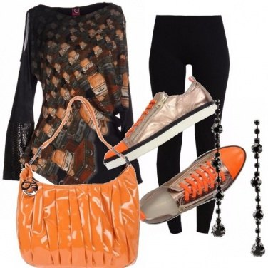 Outfit Orange blackish