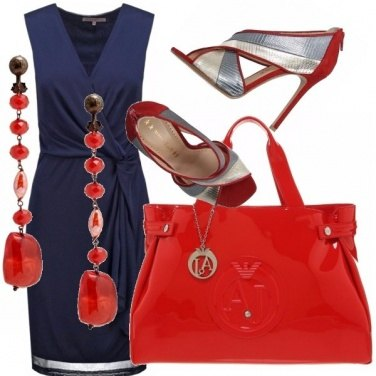 Outfit Rosso blu