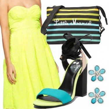 Outfit Turchese e lime